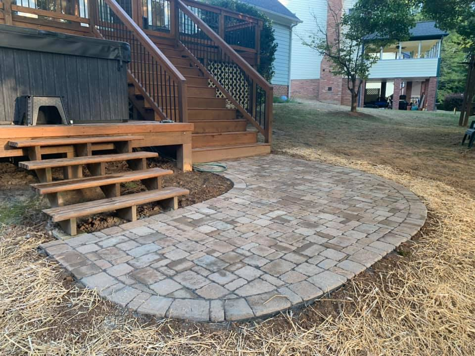 Paver Patio Landing and Pathway