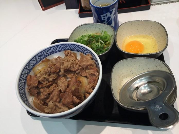 My beef bowl from Yoshinoya
