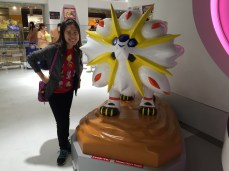 My wife with Solgaleo, her Sun legendary
