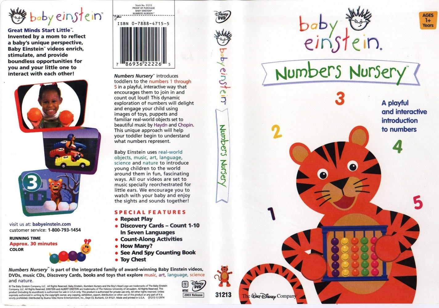 numbers nursery dvd