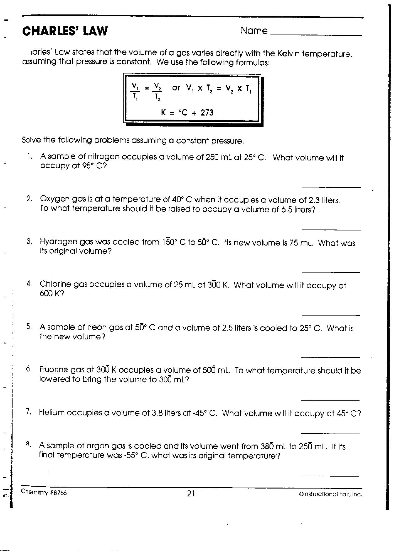 Pressure Problems Worksheet Collection Of Pressure