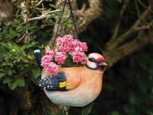 Container Gardening: Bird shaped hanging basket
