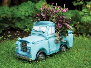 Container Gardening: Blue truck plant pot
