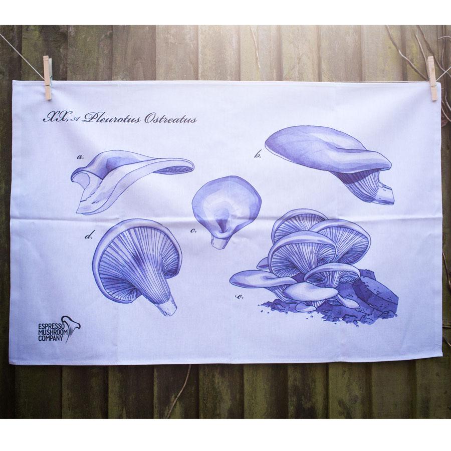 Grow your own mushrooms: Espresso Mushroom Company tea towel