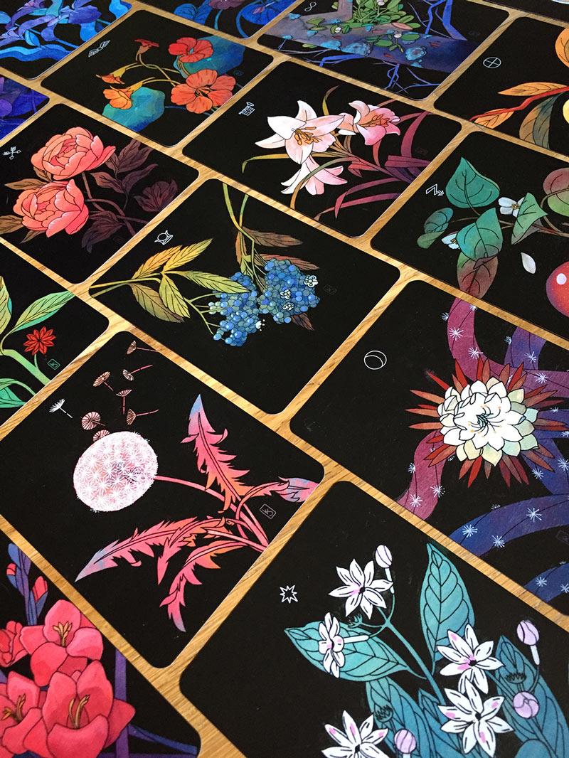 botanical tarot cards