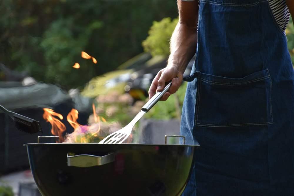 Man at a barbecue