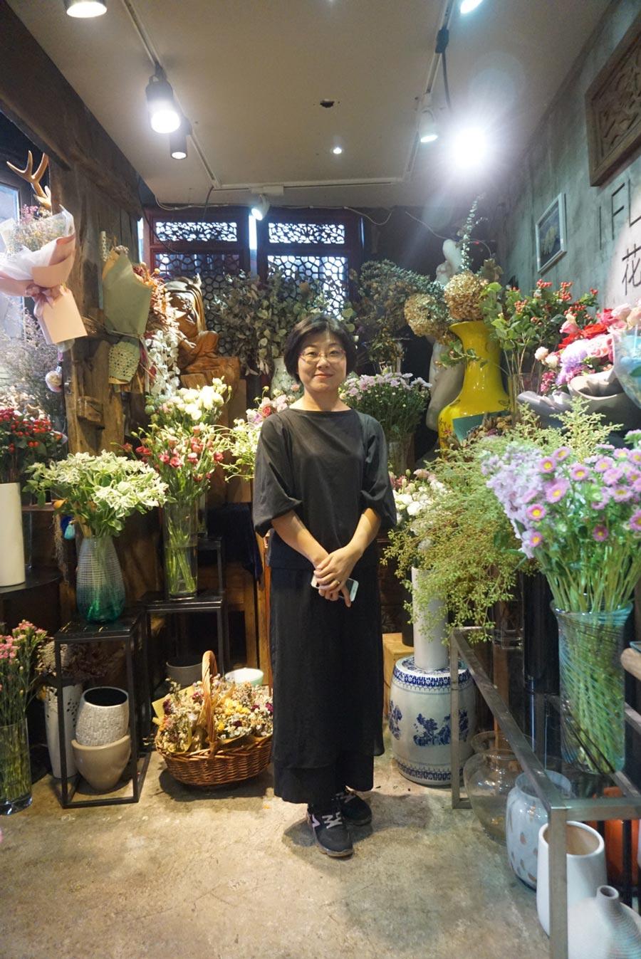 Julie at iFlower in Shenzhen
