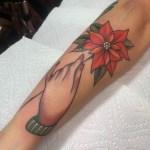 Poinsettia tattoo