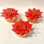 Poinsettia cupcakes