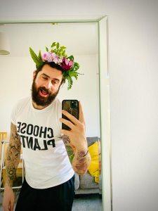 Houseplant headband