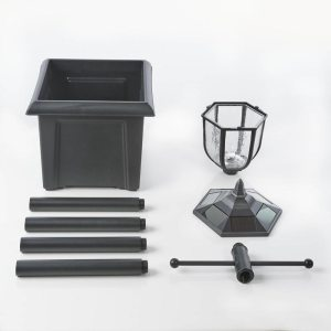 Solar lamp with planter base
