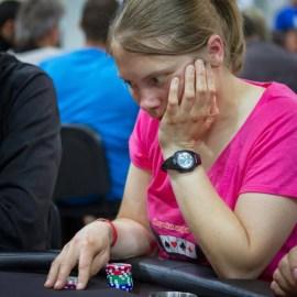 Sandrine Bosmans au Nh Poker 2014