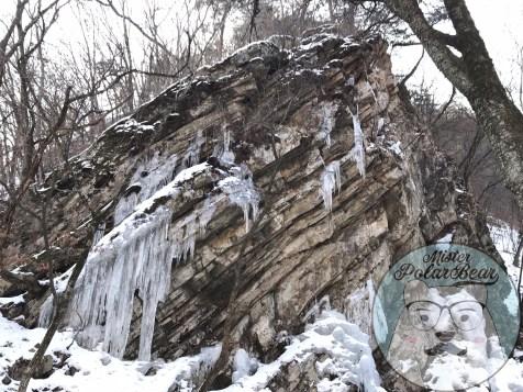 首爾自由行,首爾,自由行,韓國冬天,九曲瀑布,石2