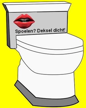 spoelen wc