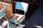 vinyl mid century dining chairs, rampart antiques, tacoma washington