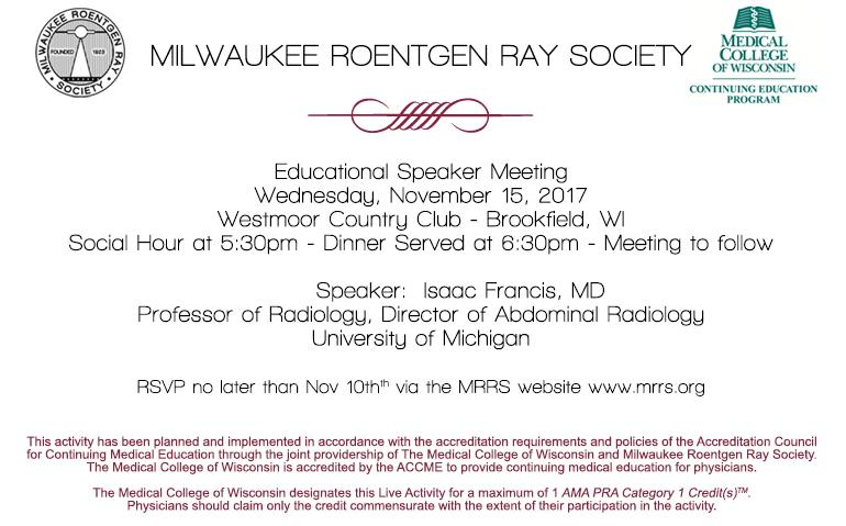 MRRS Educational Speaker Meeting November 2017