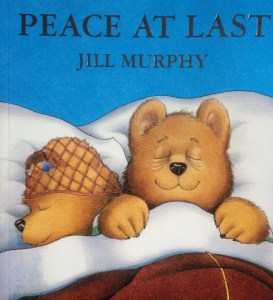 Illustration of mrs bear and mr bear asleep in bed