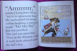 Page in It's a Book showing a page in Treasure Island