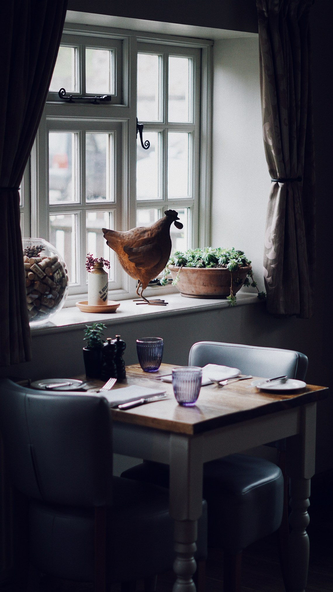 Restaurant. Tudor Farmhouse, a boutique retreat in the Forest of Dean and Wye Valley. Blog by Skirmantas Petraitis.