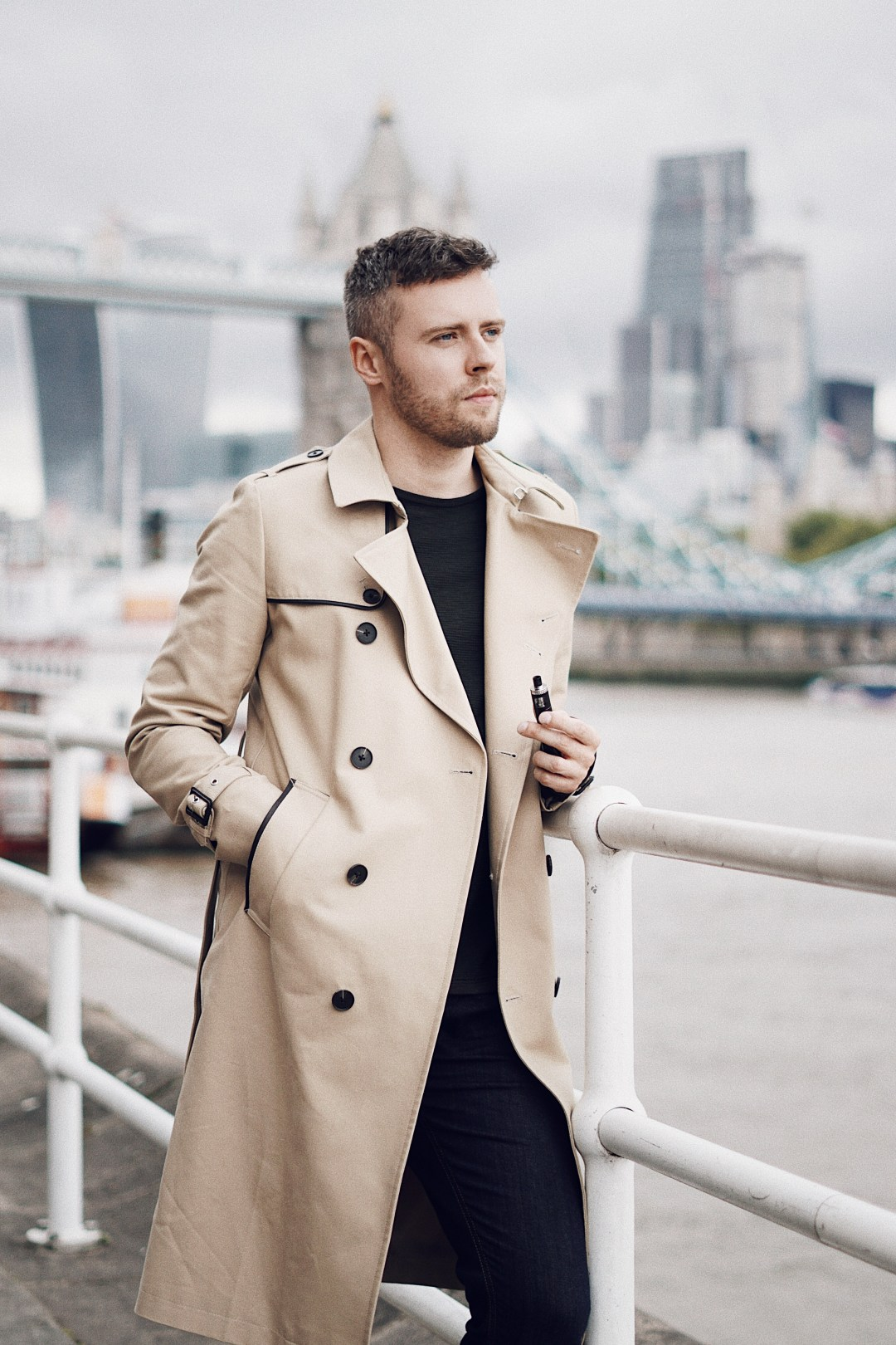 Coming out stories. Wearing ASOS Shower Resistant Longline Trench Coat With Belt In Stone. Blog by Skirmantas Petraitis.