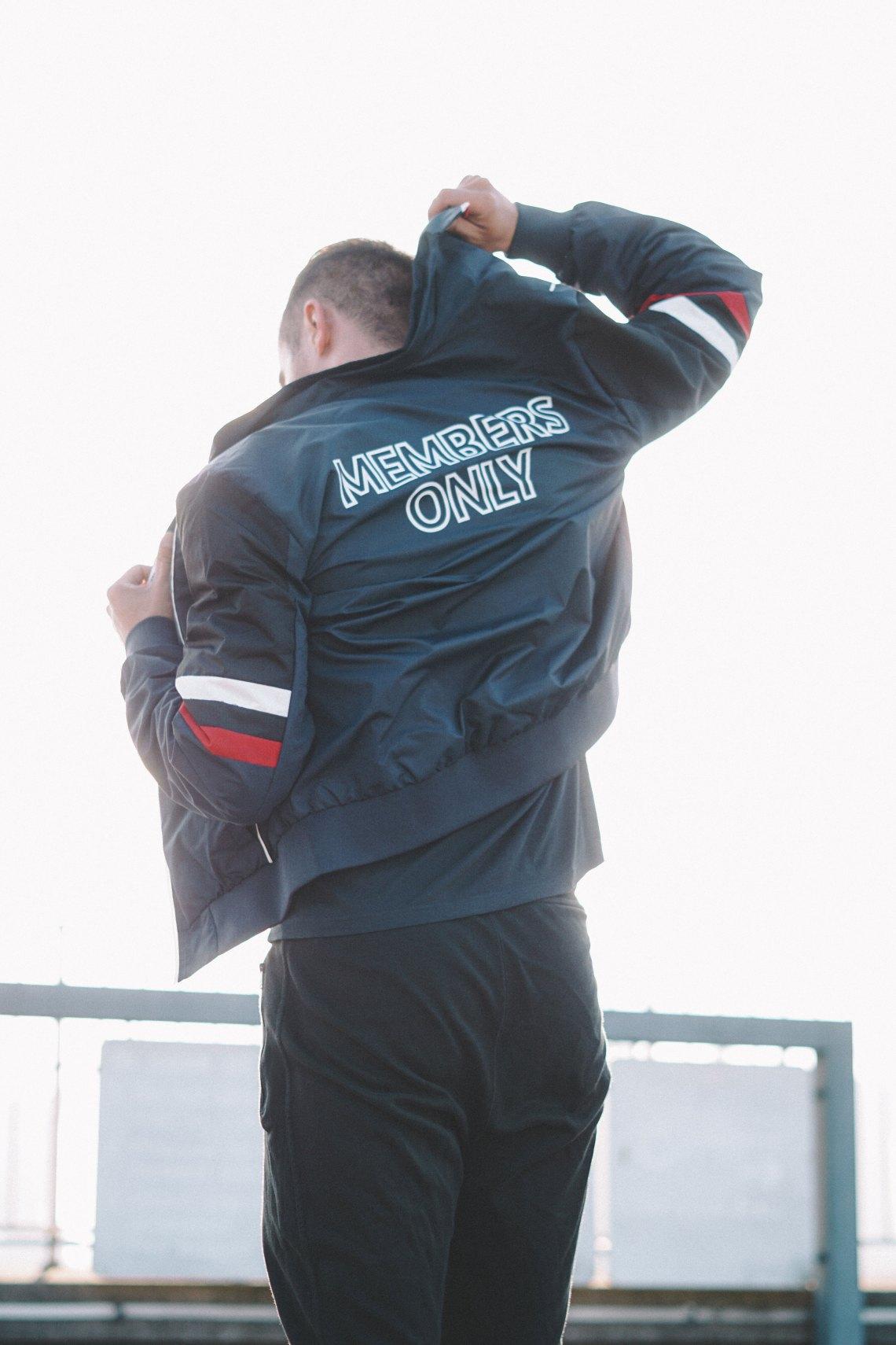Members Only Flex Jacket (Navy) Men's Coat. Blog by Skirmantas Petraitis.