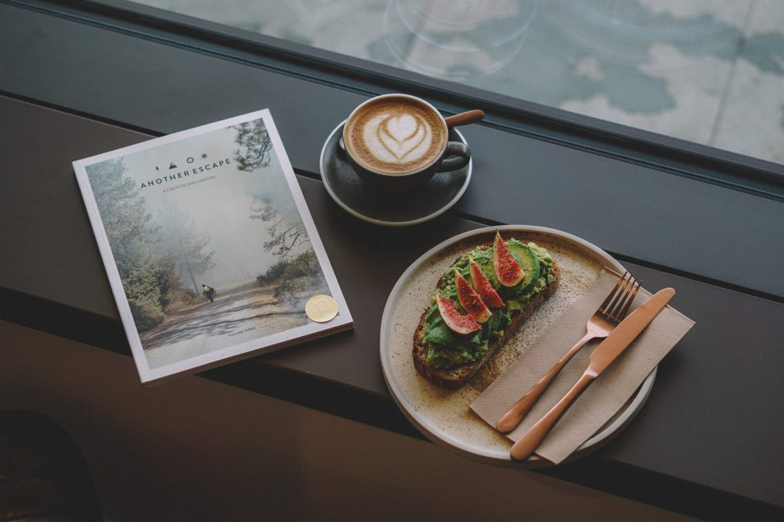 Breakfast at Page8 Hotels. Avocado toast and Oat Latte.