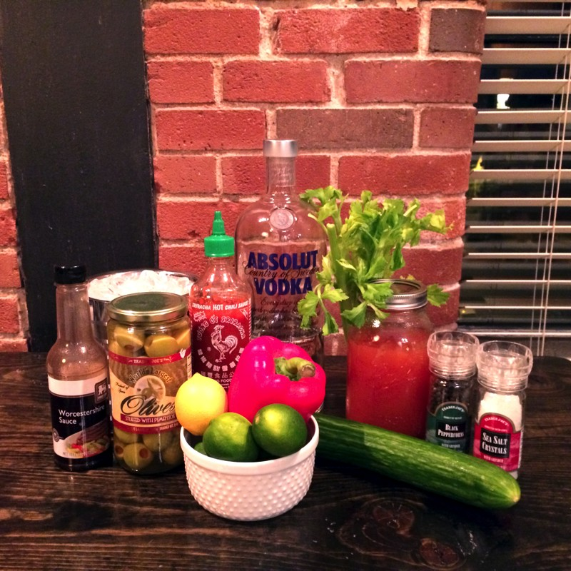 Ingredients, Bloody Mary