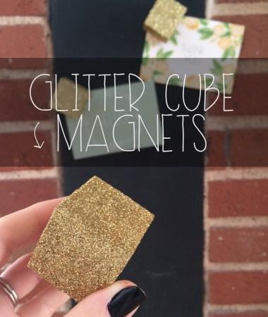 Glitter Cube Magnets