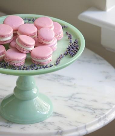 Lavender + Honey Macarons