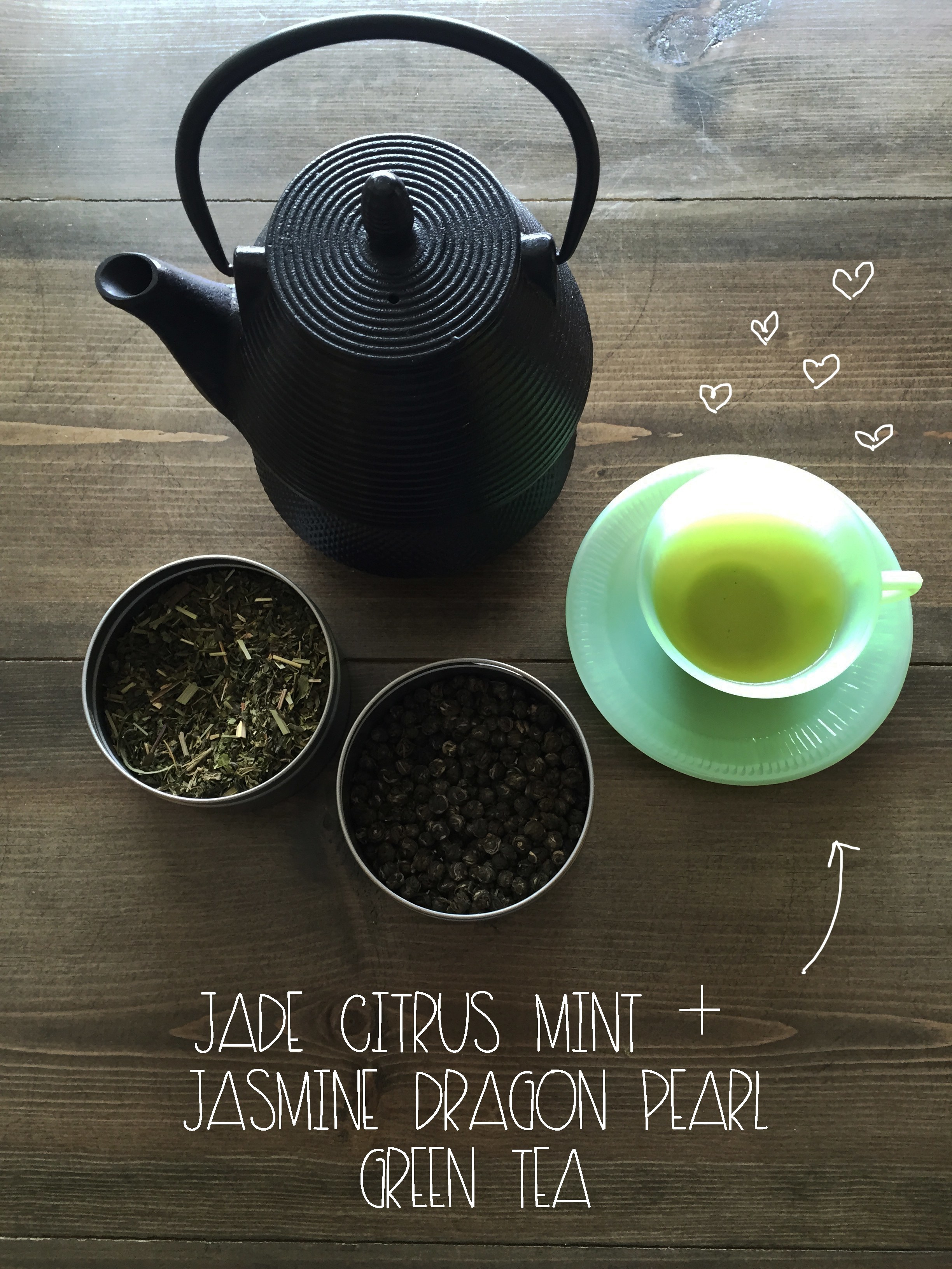 Jasmine Pearl and Jade Mint Green Tea | Red Autumn Co