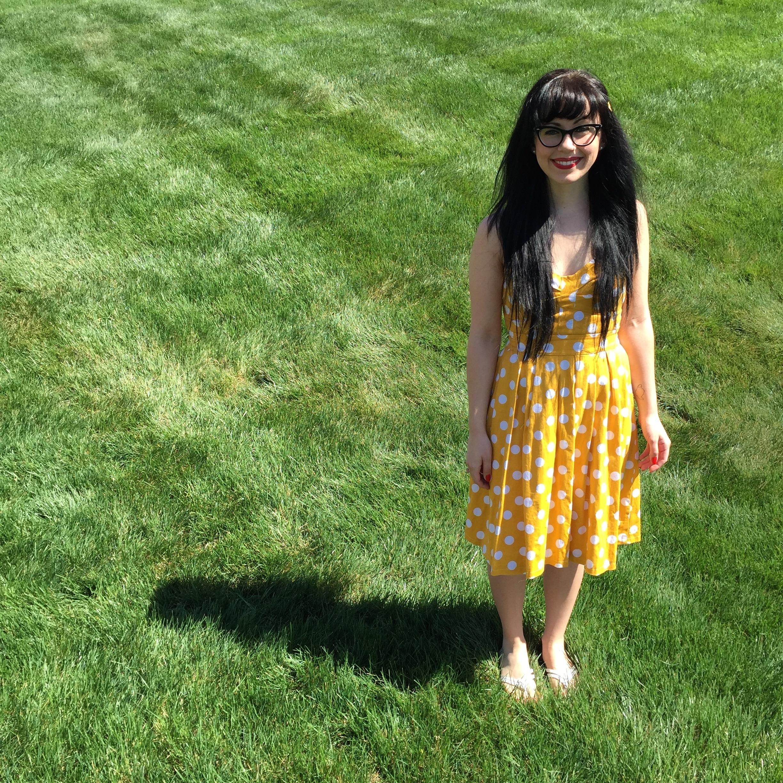 Yellow Polka Dot Dress | Red Autumn Co