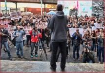 5 Pointz founder Meres addresses the crowd...