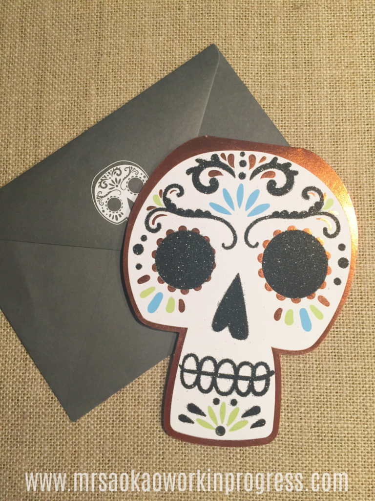 Fall Box Swap Reveal Sugar Skull Card
