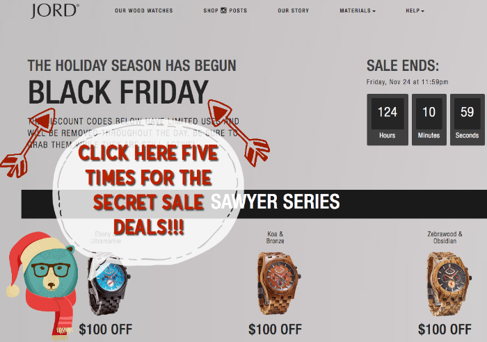 JORD Black Friday SECRET DEAL PAGE!! Click here for the best savings on these unique wood watches for him or her