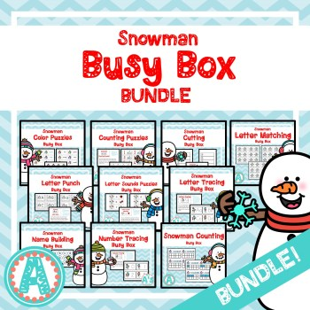 Snowman Busy Boxes