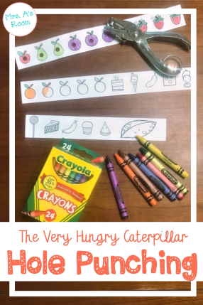 The Very Hungry Caterpillar Hole Punching FREEBIE