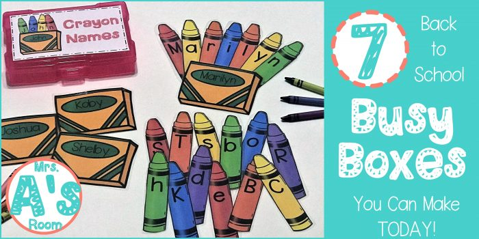 7 Back-to-School Busy Boxes You Can Make Today!