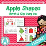 Apples Shapes Match & Clip Busy Box
