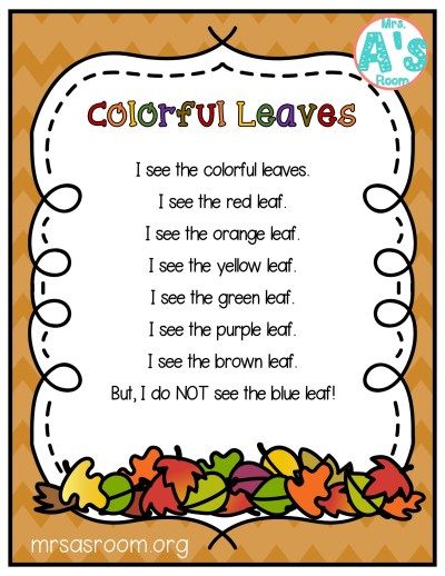Fall Poetry Packs for Preschool