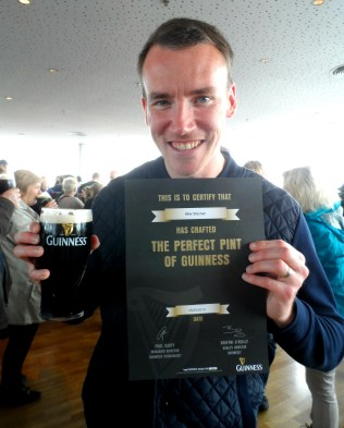 Trying Guinness at the Guinness Storehouse