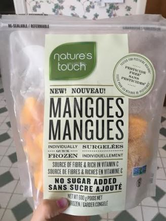 This was the first time I had ever seen this brand. They were on sale so it was an easy choice. Besides, chopping mangoes is no fun!