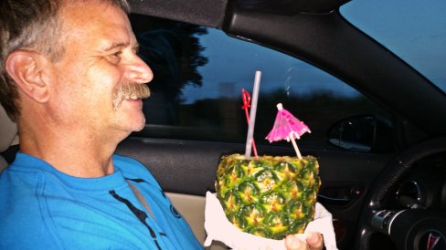 pineapple Jeff car