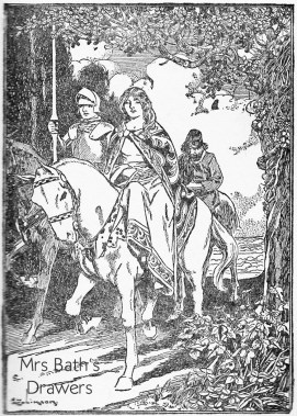 Queen Gwenevere and Sir Percival Vintage 1930s childrens illustration image