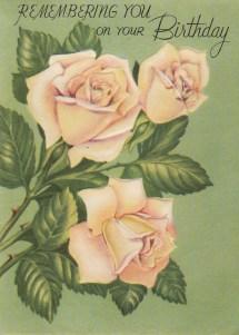 Vintage rose birthday card