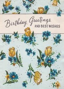 Vintage birthday greetings
