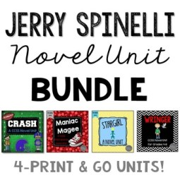 jerry spinelli lesson plan bundle