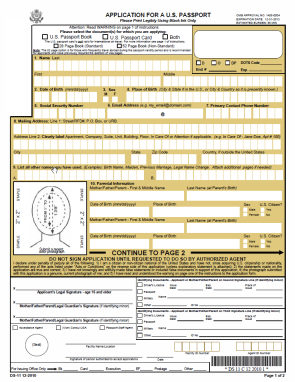 The Boring Document: The US Passport Application