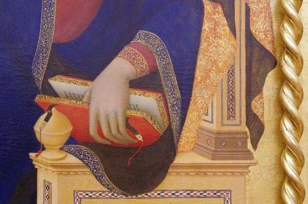 detail of Martini and Memmi's The Assumption and Two Saints
