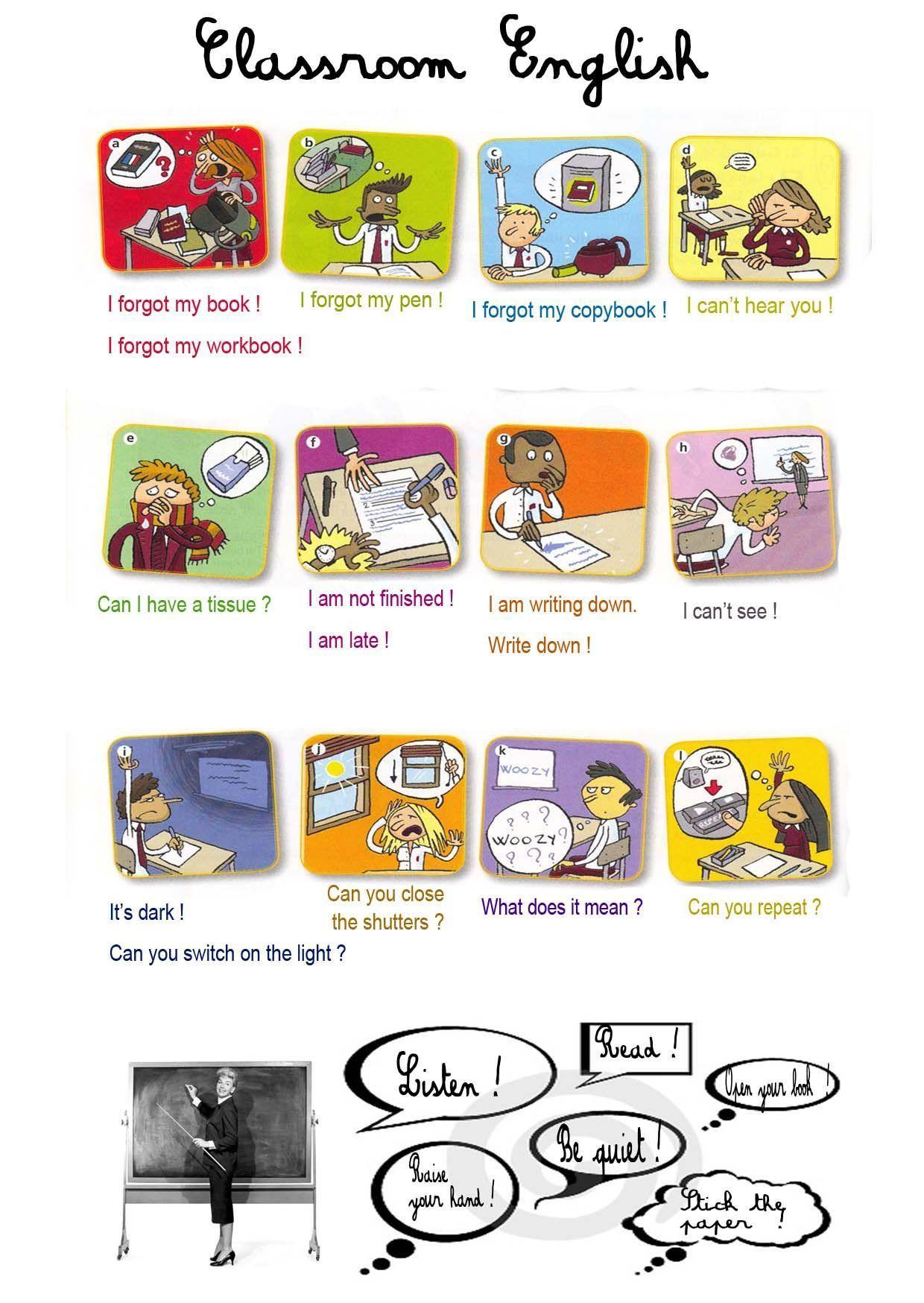 English In 3eme Classroom English