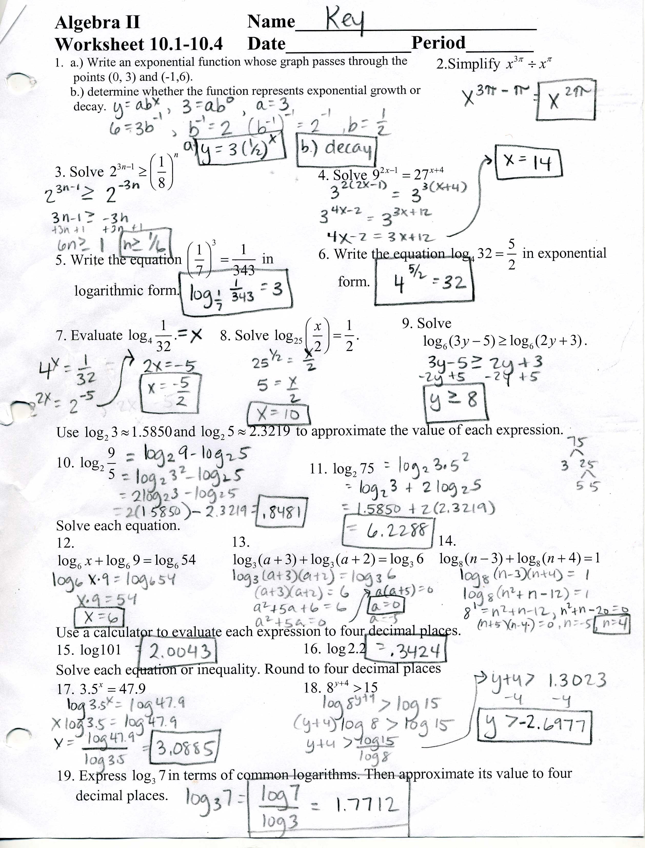 Algebra Ii Help Homework